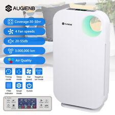 AUGIENB Ozone O3 Odor PM2.5 Remover HEPA Air Purifier - White