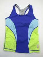ZELLA GIRL T5275 Youth Girl's Size L Knit Athletic Bra Blue/Green Racer Tank Top