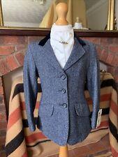 BNWT Childs Caldene Navy Herringbone Tweed Show/Hacking Jacket Size 24 Lead Rein