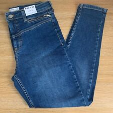 Topshop Jamie Jeans Size 12 W30 L30 Indigo Blue