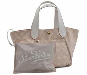 Louis Vuitton Beach Line Cabas Ipanema PM Tote Bag Pink Beige M95982 LV D8433