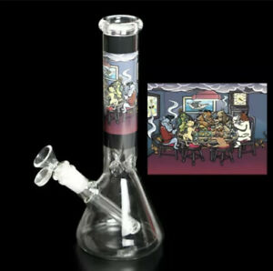 10 inch Hookah Water Pipe Glass Bong Smoking Pipe w/ ICE catcher 14mm Bowl Rig