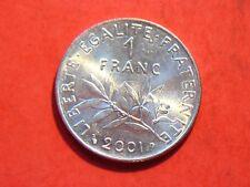 1 franc semeuse 2001 spl très beau velours de frappe!