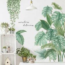 Tropical Leaves Green Plant Wall Stickers Vinyl Decal Living Room Art Mural Deco