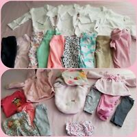 BABY GIRL 0-3 Months Mixed items lot***24 items***Super Variety**No stains**EUC*