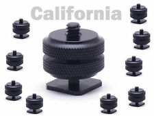 "Lot of 10 x Pro1/4""-20 Tripod Mount Screw to Flash Camera Hot Cold Shoe Adapter"