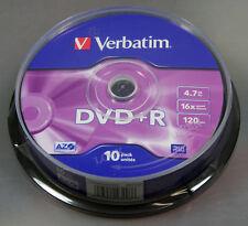 Verbatim DVD+R 4,7GB 30 Rohlinge, 16x, 120 Min, Cakebox, 3x10er Spindel
