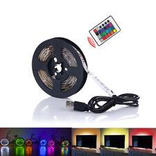 New USB Powered Computer TV Backlight Kit RGB Colour Change 5050 LED Light Strip