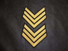NEW Pair British Army Mess Dress Dark Navy Gold Sergeant Chevrons Stripes