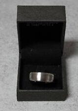 New Men's Stainless Steel Inspirit Ridged Ring  Size S