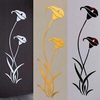 Acrylic Wall Sticker Flower 3d Shape Decoration Home DIY Stickers Modern Decor