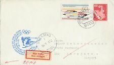 XIV Winterspiele Sarajevo ungeöffneter Brief verschickt 25.11.1983 ab Frankfurt