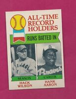 1979 TOPPS # 412 BRAVES HANK AARON RECORD  NRMT-MT CARD (INV# A4289)