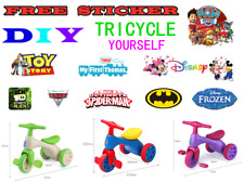 KIDS CHILD TRICYCLE TRIKE BICYCLE BIKE PUSH KICK 3 WHEEL TODDLER RIDE ON TOY DIY