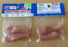 2 VINTAGE WESTRIM CRAFTS PAIR OF MEDIUM LADIES HANDS STYLE #6583