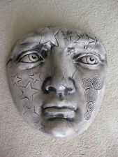 Original Clay Face Mask Wall Sculpture Abstract Modern Art - FAST FREE SHIPPING!