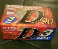 TDK 3pack Cassettes Factory Sealed