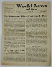 World News and Views 1951, 28th April, Communist Party of Great Britain - Rare