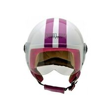 ESPECIAL MONSTER WEEKEND CASCO NZI VINTAGE II BLANCO FRANJA MORADA TALLA S