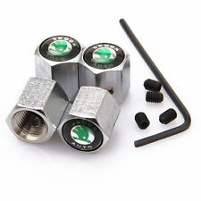 Metal Anti-Theft Locking Car Tire Air Valve Stems Caps Sets Styling Skoda S334