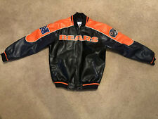NFL Chicago Bears Vintage Leather Jacket - Size M -Pre Owned