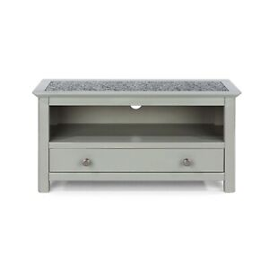 Grey Stone Topped Modern TV Unit Wide Drawer Storage Shelf Living Room Furniture