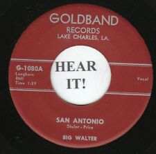 Big Walter R&B 45 (Goldband 1080) San Antonio/Crazy Dream  M-