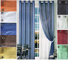 2 Pannelli Tenda Minerva Doppio Velo Cangiante 150x290 cm Per Arredo Casa Colori