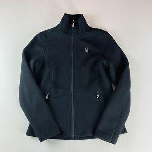 Spyder Core Sweater Black Full Zip Fleece Lined Womens Size Medium