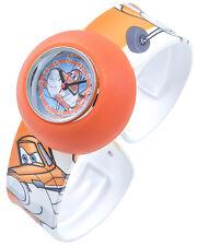 Disney Montre Enfants Quartz Orange Analogique Planes Silicone F-60356115476550