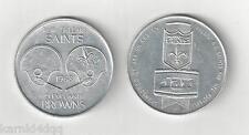 1968 NEW ORLEANS SAINTS CLEVELAND BROWNS PROGRAM FOOTBALL COIN TOKEN JAX BEER