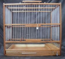 Slide Out Tray, Plexiglas / Hand Crafted Big Wooden Bird Cage;