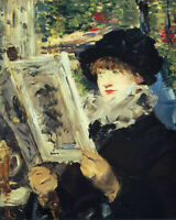 Woman Reading by Edouard Manet, Giclee Canvas Print, in various sizes