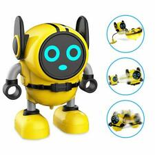 Spinning Top Robot Gyro toy Racer Spinning Wind Up toy Boys Girls-NEW  Yellow