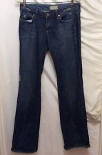 Paige Jeans 28 Blue Dark Wash Distressed Laurel Canyon Straight Leg