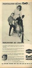 N- Publicité Advertising 1963 Les Vetements de ski EMO Neige