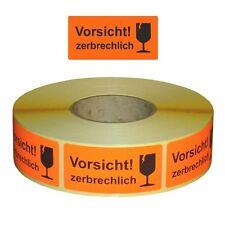 """Versandetiketten / Warnetiketten""""Vorsicht zerbrechlich!"""" 30 x 62 mm - 1000 Stück"""