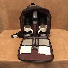 Gevalia Travel Tailgate Backpack Picnic Coffee Set Thermos Mugs Creamer & Sugar