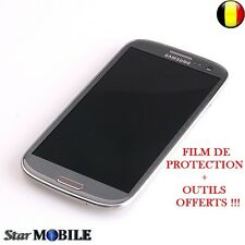 Original Samsung Galaxy S3 i9300 LCD Display Frame Digitizer Touchscreen Gris