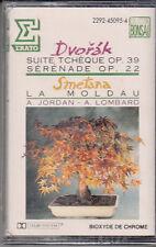 K 7 AUDIO (TAPE)  DVORAK / SMETANA / A.JORDAN / A. LOMBARD (NEUVE)