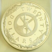 $ 20 Twenty Dollar 1985 Silver British Virgin Islands Choice Proof ASTROLABLE