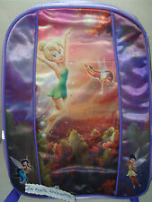 SAC A DOS CARTABLE FEE CLOCHETTE VIOLET BRILLANT DISNEY NEUF
