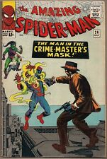 AMAZING SPIDER-MAN #26 MARVEL COMICS 07/65 1ST CRIME MASTER 4TH GREEN GOBLIN VG+