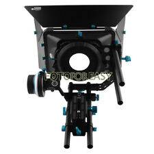 FOTGA Swing-away Matte Box+QR Follow Focus A/B Hard Stops+15mm Rod Baseplate Rig