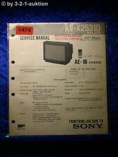 Sony Service Manual KV X2531D (#1474)