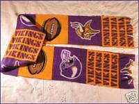 Vikings Football Fleece Scarf