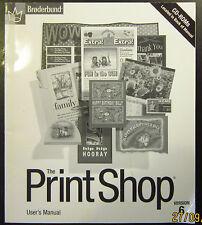 Broderbund The Print Shop Users Manual Ver. 6