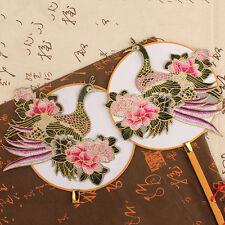 Kran Lotus Bestickte Auflage Bügeleisen / Nähen auf Flecken löslich 23.5*25cm