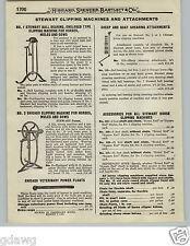 1919 PAPER AD 6 PG Stewart Horse Sheep Clipping Machine Shearing Mule Hand Power