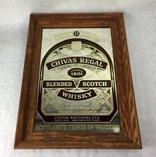 """Chivas Regal Blended Scotch Whisky Bar Wood Framed Mirror Vintage 23"""" x 17"""""""